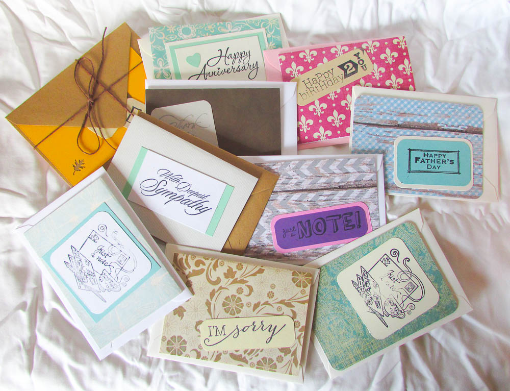 Hand Made Variety Pack of Note Cards